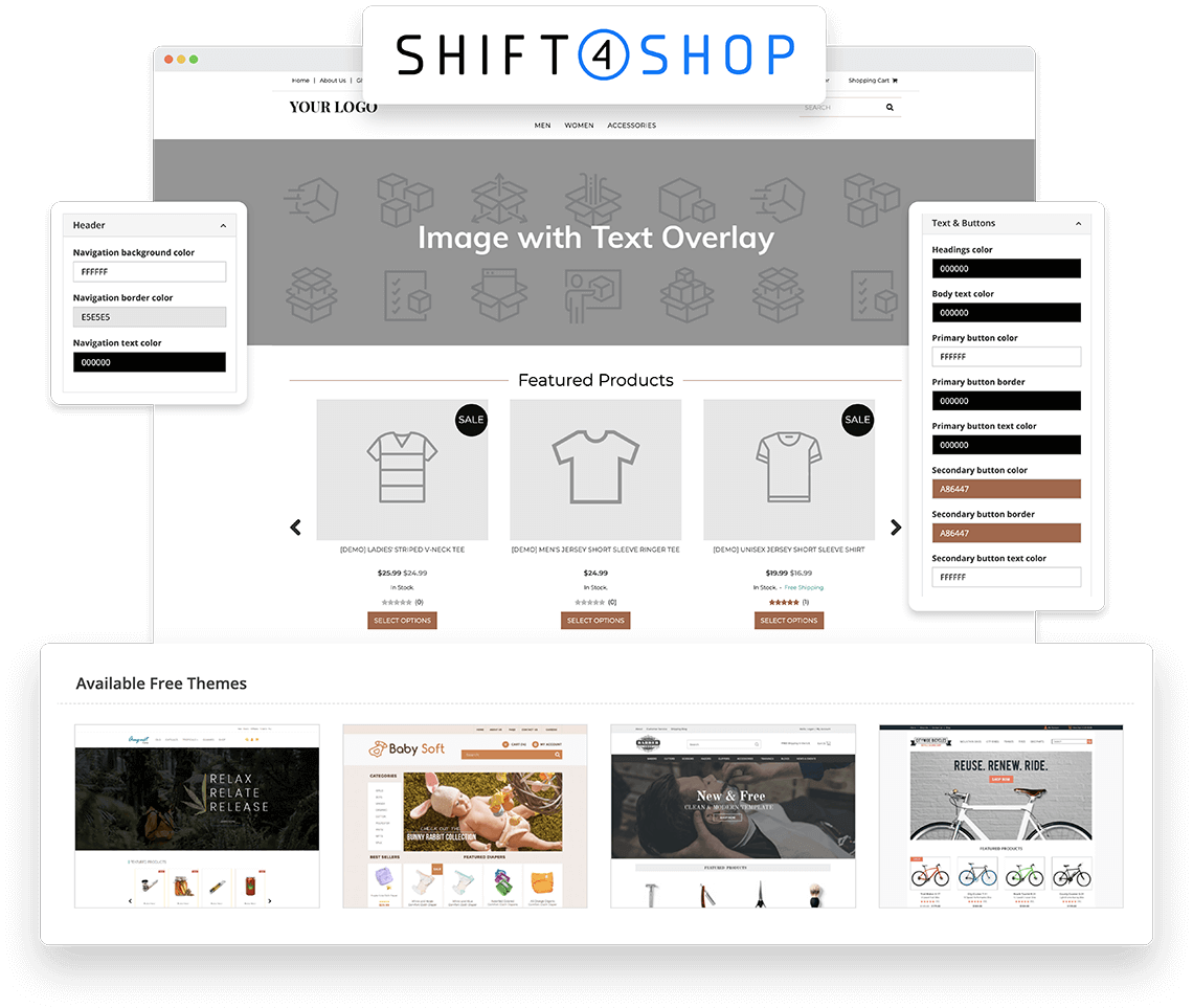 Create Your Shop With Our Powerful & Intuitive Website Builder